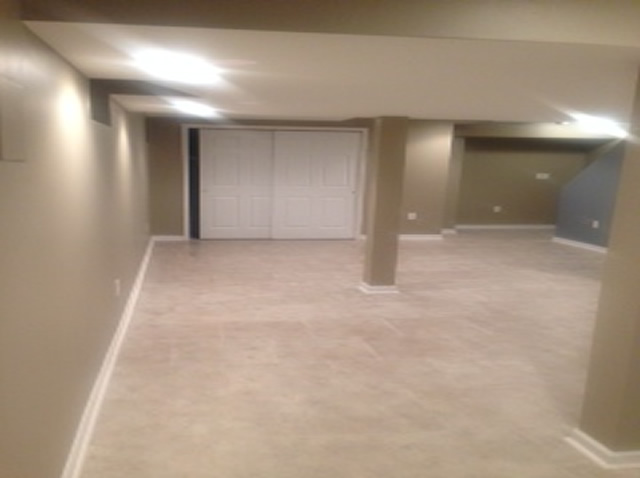 The Basic Basement Co Finished Basement With Home Theater Howell NJ