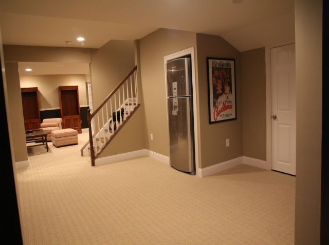 Finished basement with half bathroom and game room the for 9999 basement