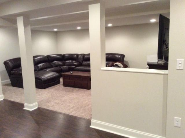 the basic basement co finished basement with half bath morristown nj