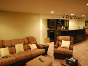 The Basic Basement Co._finished basement with bar and full bathroom_Princeton-NJ_June 2014