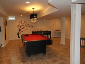 The Basic Basement Co._finished basement with game room_NJ_January 2012