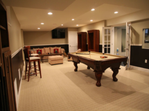 The Basic Basement Co._finished basement with Half Bathroom and Game Room_NJ_ November 2012