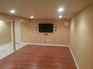The Basic Basement Co._finished basement with home theater_NJ_September 2012