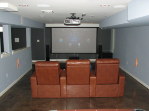 The Basic Basement Co._finished basement with home theater_NJ_February 2012