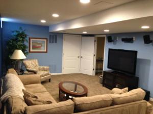 The Basic Basement Co._finished basement with full bathroom_Red Bank-NJ_January 2014