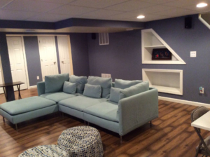 The Basic Basement Co._finished basement with full bathroom_Kendall Park-NJ_March 2014