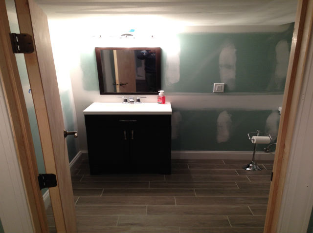 Finished Basement With Egress Window And Full Bathroom