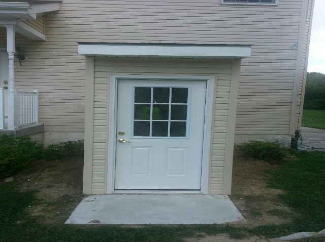 Attrayant _finished Basement With Egress Door_Linwood NJ_August 2014