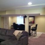 The Basic Basement Co._finished basement with bar_Harleysville-PA_October 2014