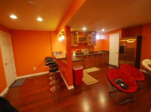 The Basic Basement Co._finished basement with kitchen-bar and home theater_Monmouth Junction-NJ_January 2015