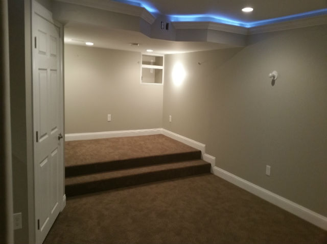 Finished basement with kitchen bar the basic basement co for 9999 basement