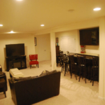The Basic Basement Co._finished basement with half bath and bar_Washington Township-NJ_June 2015