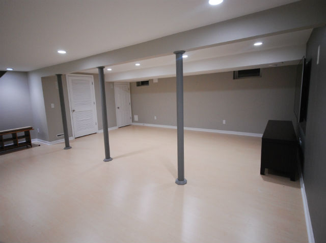 Basement finishing projects images the basic basement co for 9999 basement