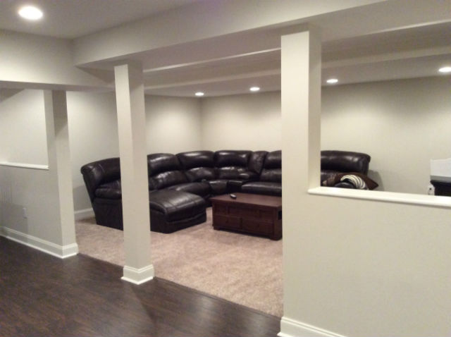 Finished basement with half bathroom the basic basement co for 9999 basement