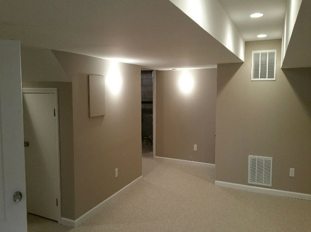 Finished basement with half bathroom manalapan nj the for 9999 basement