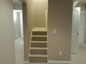 The Basic Basement Co._finished basement with half bathroom_Manalapan-NJ_March 2016