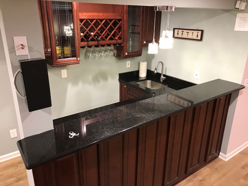 Finished basement with bar bathroom and home theater for 9999 basement